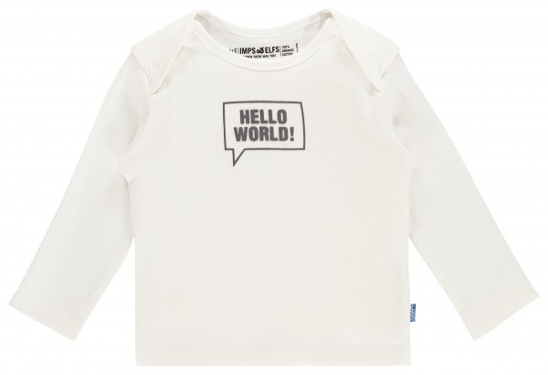Longsleeve Robin Artwork Print off white